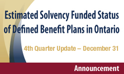 2017 Fourth Quarter - Estimated Solvency Funded Status of Defined Benefit Plans in Ontario